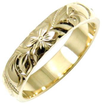 永遠に輝き続ける深彫りのハワイアンジュエリー ハワイアンジュエリー メンズ ハワイアンリング [ギフト/プレゼント/ご褒美] 指輪 K18 イエローゴールドk18 18金ストレート 注目ブランド 送料無料 男性用