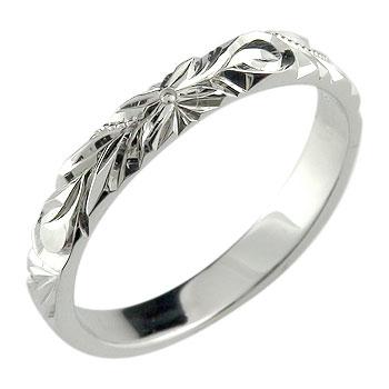 ハワイアンジュエリー メンズ ハワイアンリング ピンキーリング 指輪 プラチナリング プラチナ900 オリジナルリングストレート 男性用 送料無料 父の日