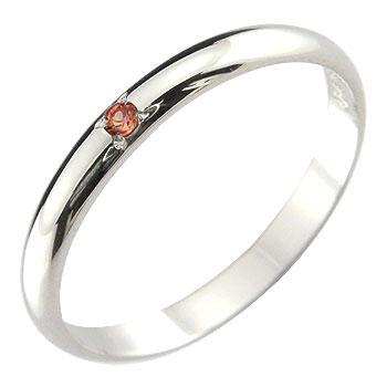メンズ ピンキーリング ガーネット リング 指輪 ホワイトゴールドk1818金 ストレート 2.3 男性用 宝石 送料無料