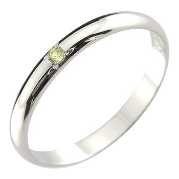 メンズ ピンキーリング ペリドット プラチナリング 指輪ストレート 2.3 男性用 宝石 送料無料