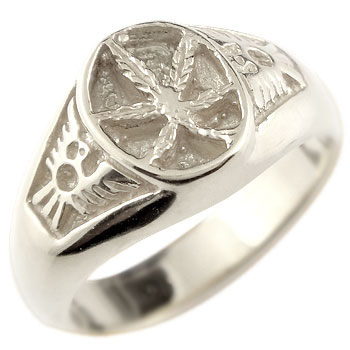 メンズリング 人気 シルバー リング 指輪 葉 イーグルピンキーリング ストレート 男性用 送料無料