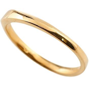 メンズ リング 指輪 ピンキーリング 地金リング ピンクゴールドk18 18金 つや消し シンプル 宝石なしストレート 男性用 送料無料 父の日
