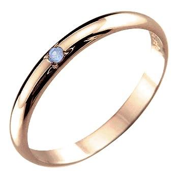 毎日のジュエリーパートナーとしてシンプルpinkyリング メンズ ピンキーリング タンザナイト リング 指輪 ピンクゴールドk18 12月誕生石18金 ストレート 2.3 男性用 宝石 送料無料