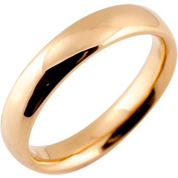 メンズ リング 指輪 ピンクゴールドk18 ピンキーリング 地金リング リーガルタイプ 幅広 宝石なし 18金ストレート 男性用 送料無料 父の日