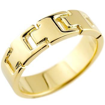 メンズ リング 指輪 ピンキーリング 地金リング 幅広指輪 イエローゴールドk18 18金 シンプル 宝石なしストレート 男性用 送料無料