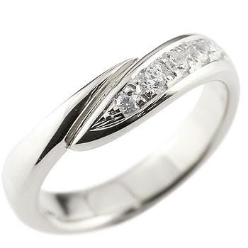 メンズ ダイヤモンド プラチナリング 指輪 ピンキーリング ダイヤ ダイヤモンドリング スパイラル ウェーブリング pt900 男性用 送料無料 父の日
