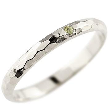 メンズ ペリドット ピンキーリング プラチナリング 指輪 一粒 8月誕生石 ストレート 2.3 男性用 宝石 送料無料