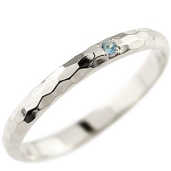 メンズ ブルートパーズ ピンキーリング プラチナリング 指輪 一粒 11月誕生石 ストレート 2.3 男性用 宝石 送料無料
