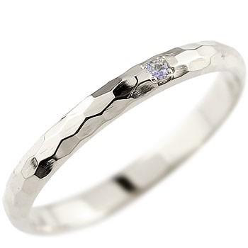メンズ タンザナイト ピンキーリング ホワイトゴールドk18 指輪 一粒 12月誕生石 18金 ストレート 2.3 男性用 宝石 送料無料
