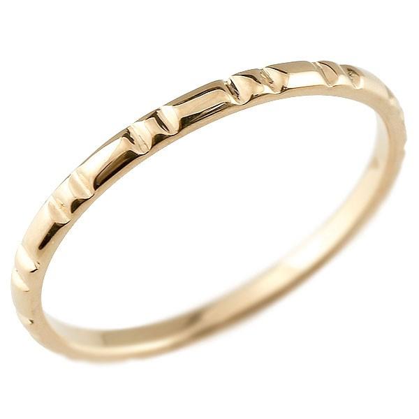 ピンキーリング ピンクゴールドk10 極細 10金 華奢 ストレート 指輪 男性用 送料無料