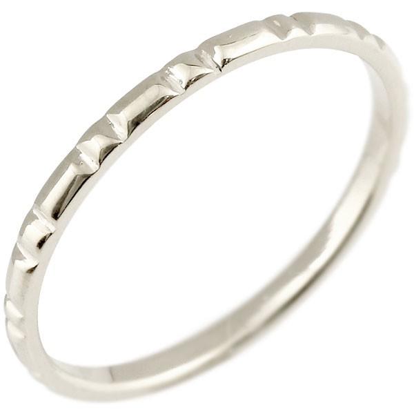 プラチナリング ピンキーリング pt900 極細 華奢 ストレート 指輪 男性用 送料無料