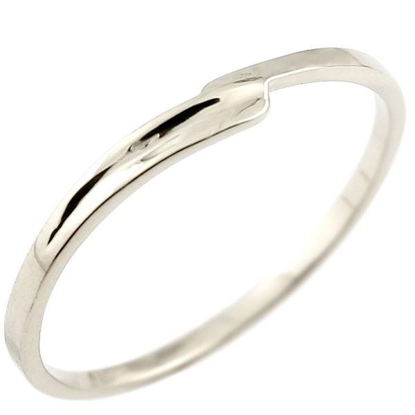ピンキーリング ホワイトゴールドk10 10金 極細 華奢 スパイラル 指輪 男性用 送料無料 父の日