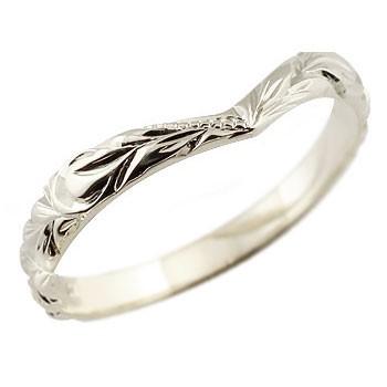 ハワイアンジュエリー メンズ プラチナリング 指輪 ハワイアンリング V字 pt900 男性用 送料無料