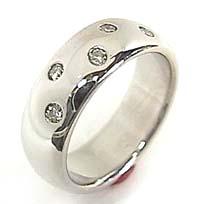 メンズリング 人気 ダイヤモンド リング ホワイトゴールドK18 指輪 ダイヤモンド 0.17ct 18金ピンキーリング ダイヤ ストレート 男性用 送料無料
