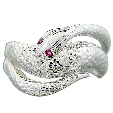 メンズリング 人気 ルビーリング スネークリング プラチナ 蛇リング 指輪ピンキーリング 男性用 宝石 送料無料