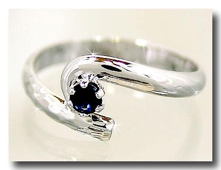 メンズリング 人気 ピンキーリングサファイア指輪プラチナストレート 男性用 宝石 送料無料