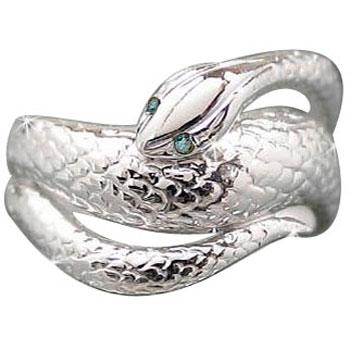 メンズリング 人気 ダイヤモンド リング白蛇指輪プラチナピンキーリング ダイヤ 男性用 宝石 送料無料