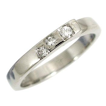 メンズリング 人気 ダイヤモンド リング プラチナリング 指輪 ダイヤモンド 0.04ctピンキーリング ダイヤ ストレート 男性用 宝石 送料無料