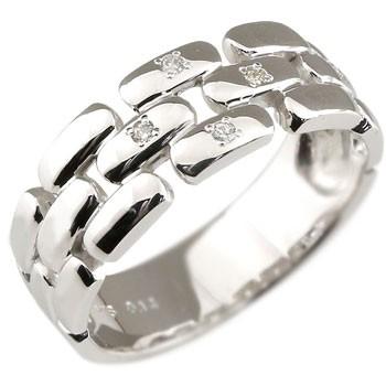 メンズリング 人気 プラチナ リング ダイヤモンド 指輪ピンキーリング ダイヤ ストレート 男性用 宝石 送料無料