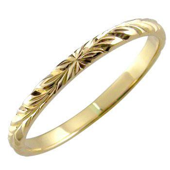 ハワイアンジュエリー メンズ ハワイアンリング 指輪 K18 イエローゴールド ハワイ 18金ストレート 2.3 男性用 送料無料