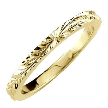 ハワイアンジュエリー メンズ ハワイアンリング 指輪 イエローゴールドk18 ハワイ k18 18金ストレート 2.3 男性用 送料無料