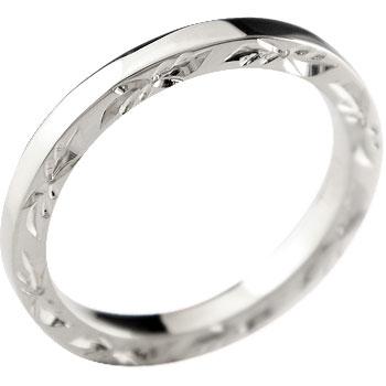 ハワイアンジュエリー メンズジュエリー ハワイアン プラチナリング 指輪 ピンキーリングストレート 男性用 送料無料