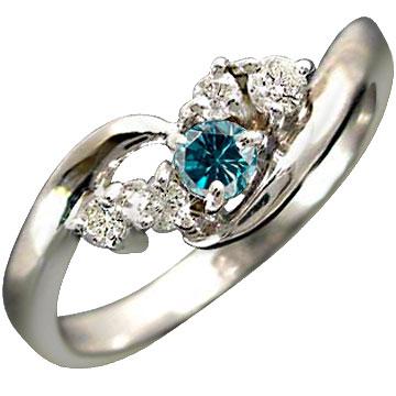 メンズ エンゲージリング 指輪 ハードプラチナ950 ダイヤモンド ブルーダイヤモンド リング ピンキーリング 一粒 婚約指輪 ダイヤモンドリング ストレート