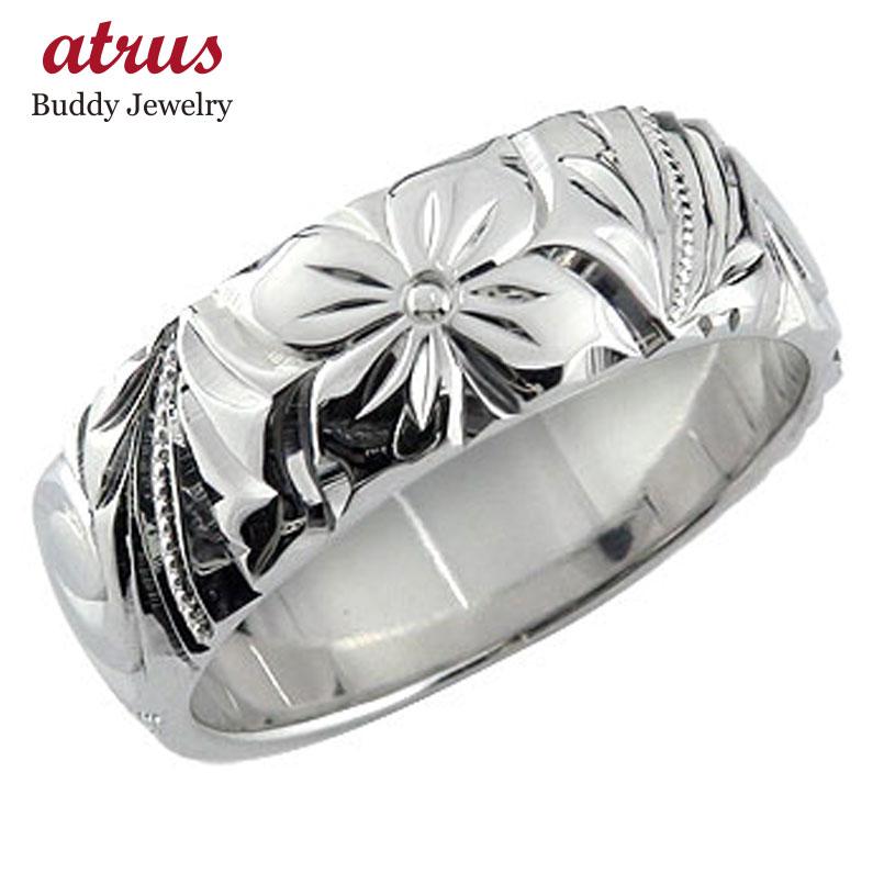 ハワイアンジュエリー メンズ ハワイアンリング 指輪 プラチナリング 幅広指輪 プラチナ 地金リング pt900 ストレート 送料無料 父の日