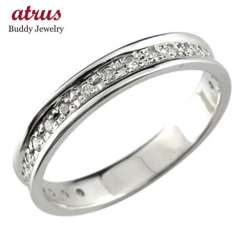メンズ エンゲージリング ダイヤモンド エタニティ エタニティリング ハードプラチナ950リング 指輪 婚約指輪 ダイヤ 0.13ct リング ストレート 送料無料
