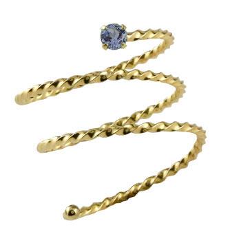 指先に着ける新感覚のリング 天然石 メンズ メンズリング ファランジリング アイオライト イエローゴールドk18 ミディリング 関節リング 指輪 ピンキーリング 18金 ストレート 男性用 宝石 送料無料