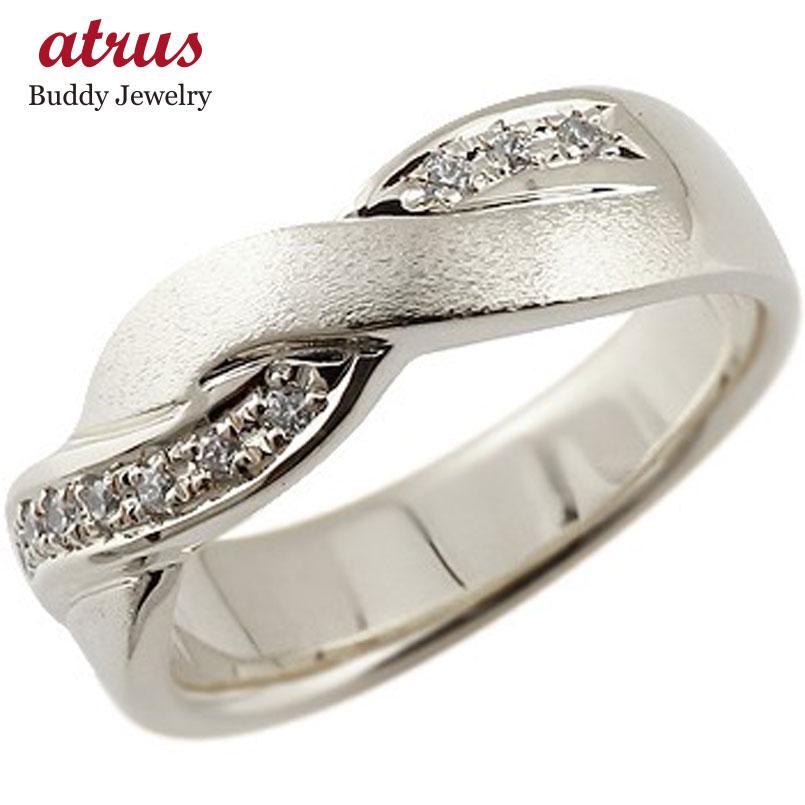 メンズ リング キュービックジルコニア シルバーリング 指輪 幅広 つや消しストレート 男性用 送料無料