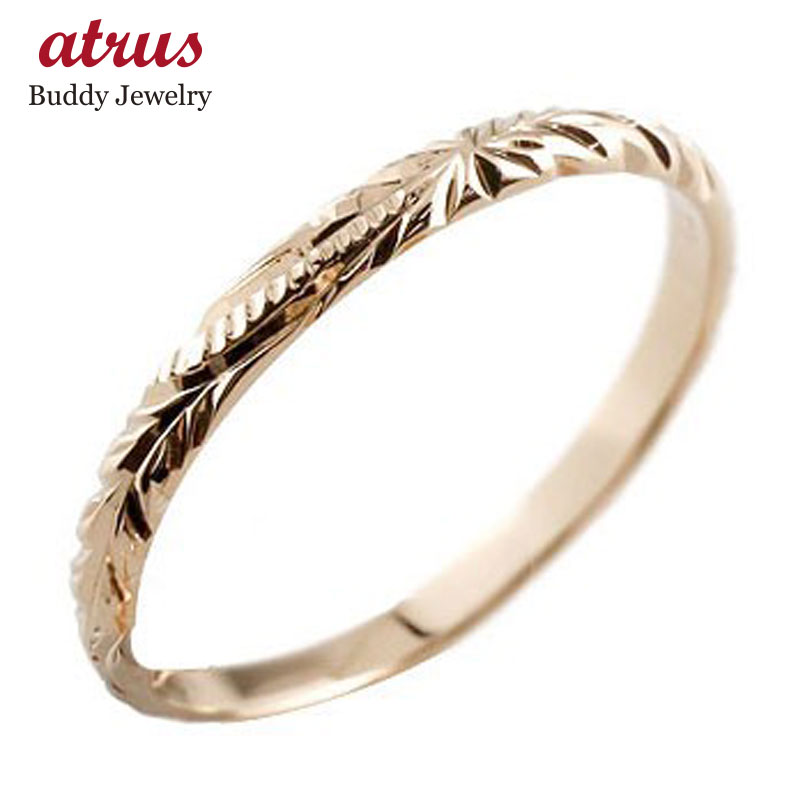 ハワイアンジュエリー メンズ ピンクゴールドk18 リング 指輪 ハワイアンリング 地金リング 18金 ストレート 2.3 男性用 送料無料