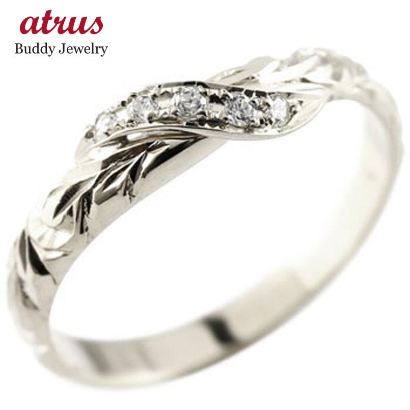 ハワイアンジュエリー メンズ ピンキーリング ダイヤモンド シルバー リング 指輪 ハワイアンリング ダイヤ sv925 送料無料