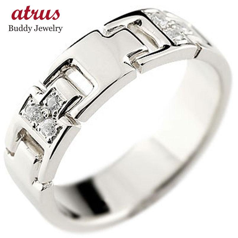 メンズ シルバーリング 指輪 キュービックジルコニアリング ピンキーリング 幅広指輪ストレート 男性用 送料無料
