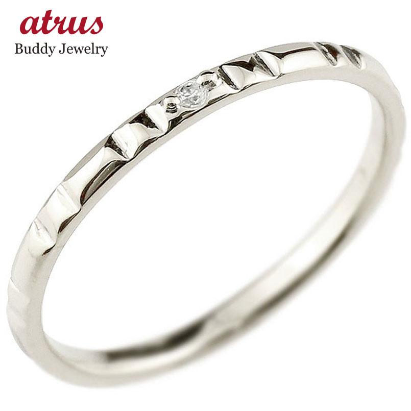 メンズ エンゲージリング 婚約指輪 ダイヤモンド ハードプラチナ950リング ピンキーリング 一粒 pt950 極細 華奢 ストレート 指輪 送料無料