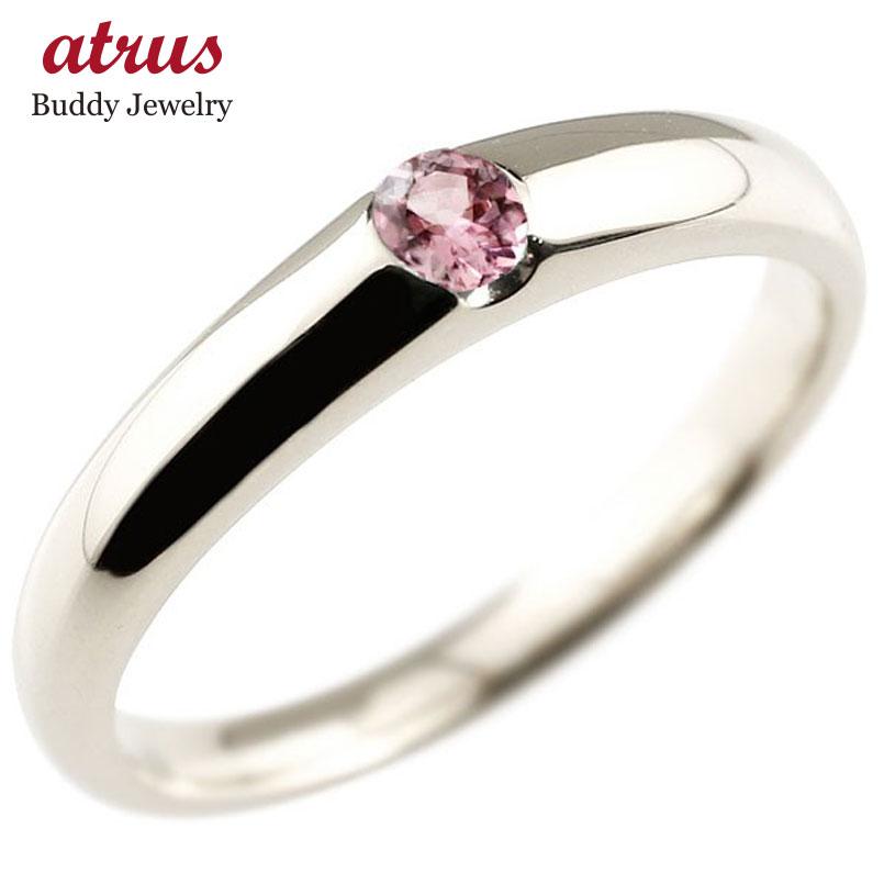 メンズ ピンクトルマリン リング 指輪 ピンキーリング シルバー 10月誕生石 ストレート 宝石 送料無料