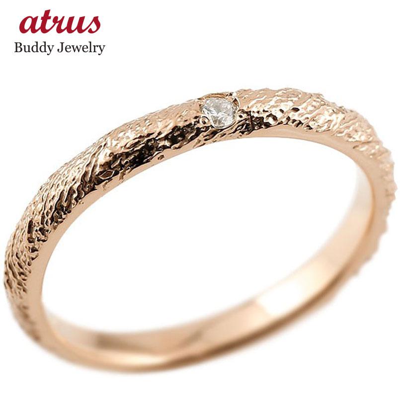 メンズ ピンクゴールドk10 ピンキーリング ダイヤモンド10金 k10 アンティーク ストレート 指輪 ダイヤリング 送料無料 父の日