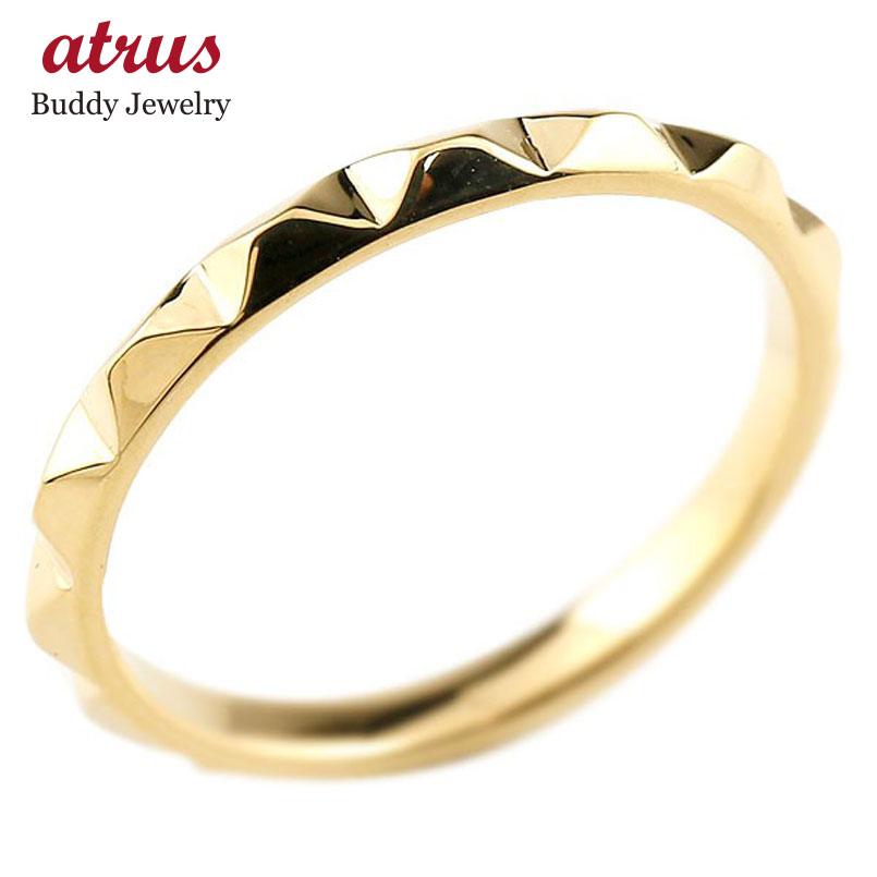 メンズ 指輪 イエローゴールドk10 レディース 地金リング 10金 送料無料