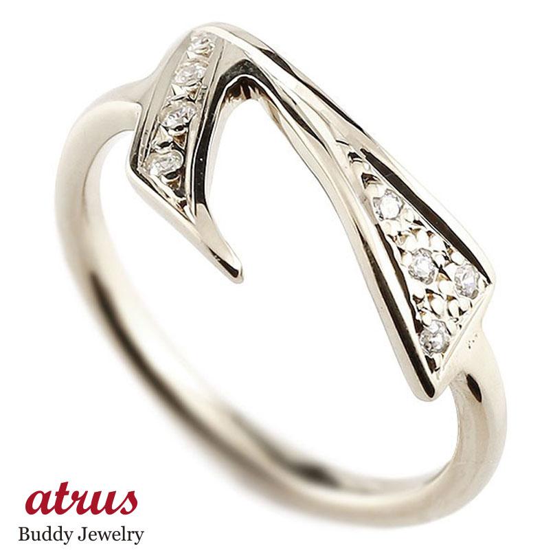 メンズ ピンキーリング キュービックジルコニア ナンバー7 ホワイトゴールドk18 18金 リング 指輪 数字 ストレート 男性 送料無料 父の日