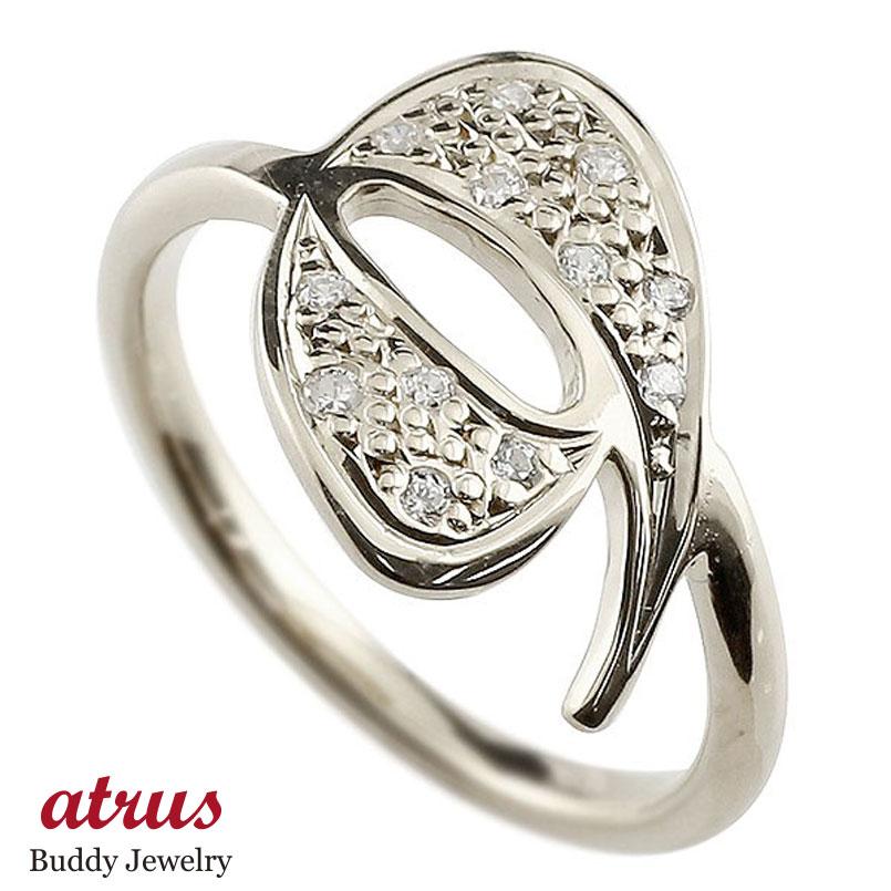 メンズ ピンキーリング キュービックジルコニア ナンバー9 ホワイトゴールドk18 18金 リング 指輪 数字 ストレート 男性 送料無料 父の日
