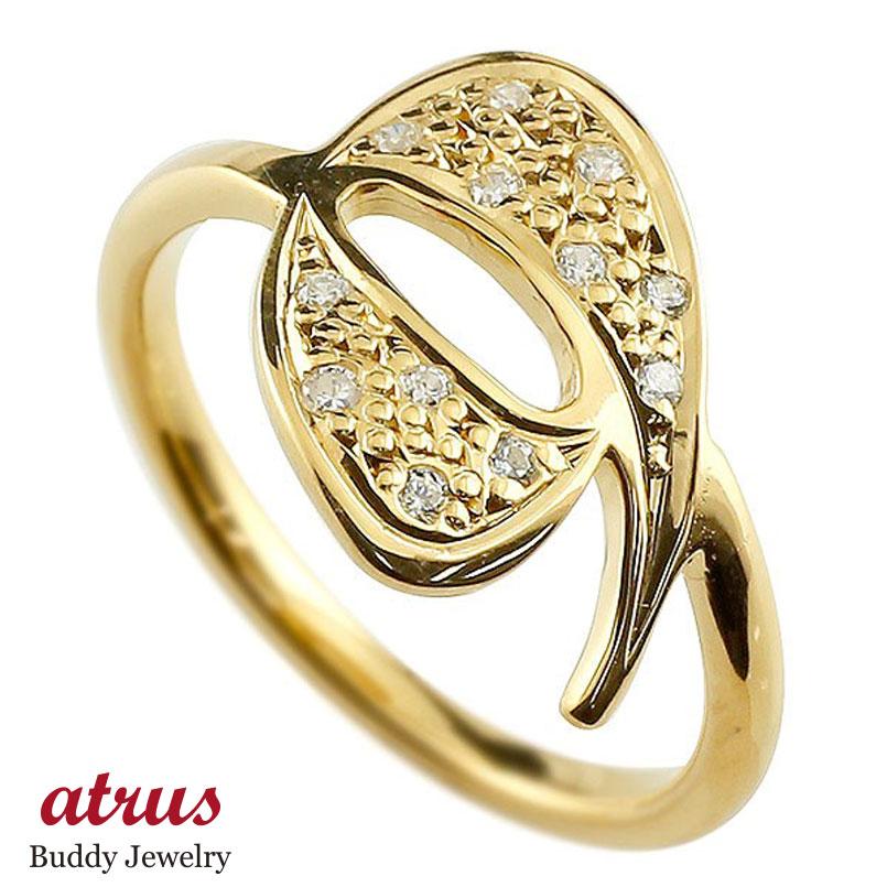 メンズ ピンキーリング キュービックジルコニア ナンバー9 イエローゴールドk10 10金 リング 指輪 数字 ストレート 男性 送料無料 父の日