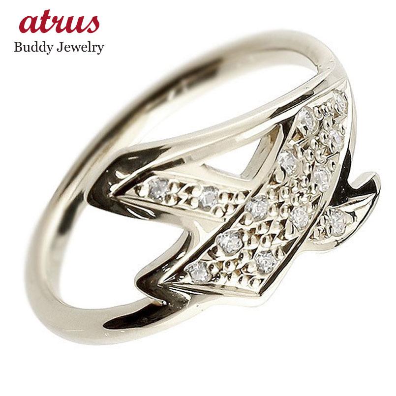 メンズ ピンキーリング ダイヤモンド ナンバー4 シルバー sv935 リング 指輪 数字 ストレート 男性 送料無料