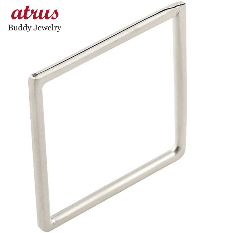 メンズ プラチナ リング スクエア pt900 宝石なし 地金リング 指輪 四角 ホーニング 送料無料