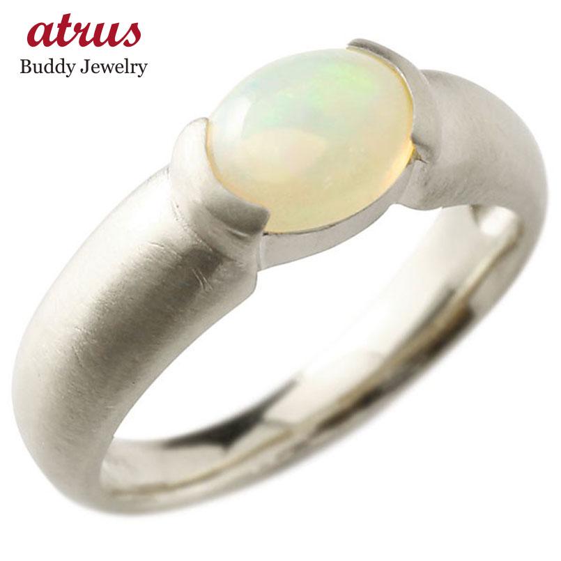 メンズ ピンキーリング シルバー 大粒 一粒 オパール リング sv925 指輪 婚約指輪 エンゲージリング 送料無料