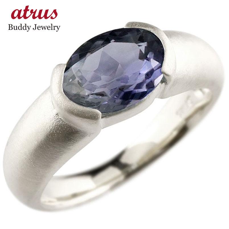 メンズ ピンキーリング シルバー 大粒 一粒 アイオライト リング ピンキーリング sv925 指輪 婚約指輪 エンゲージリング 送料無料