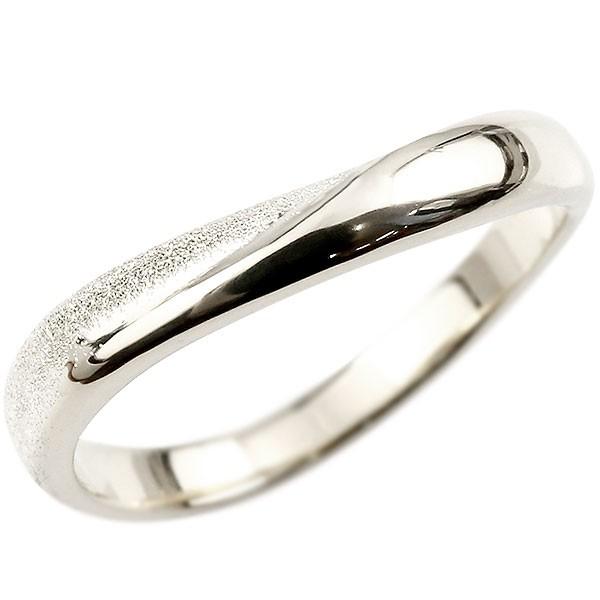 メンズ プラチナ 指輪 リング 婚約指輪 ピンキーリング スターダスト仕上げ pt900 地金 緩やかなV字 送料無料