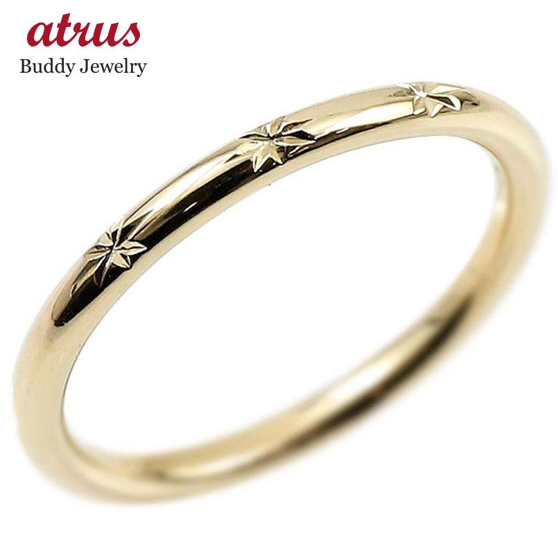 メンズ ピンキーリング イエローゴールドk10 10金 極細 華奢 指輪 男性用 ストレート 地金リング 送料無料