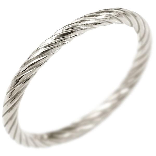 メンズ プラチナリング 指輪 エンドレスロープ 指輪 pt900 ストレート 地金 ピンキーリング 重ね付け リング 男性用 送料無料