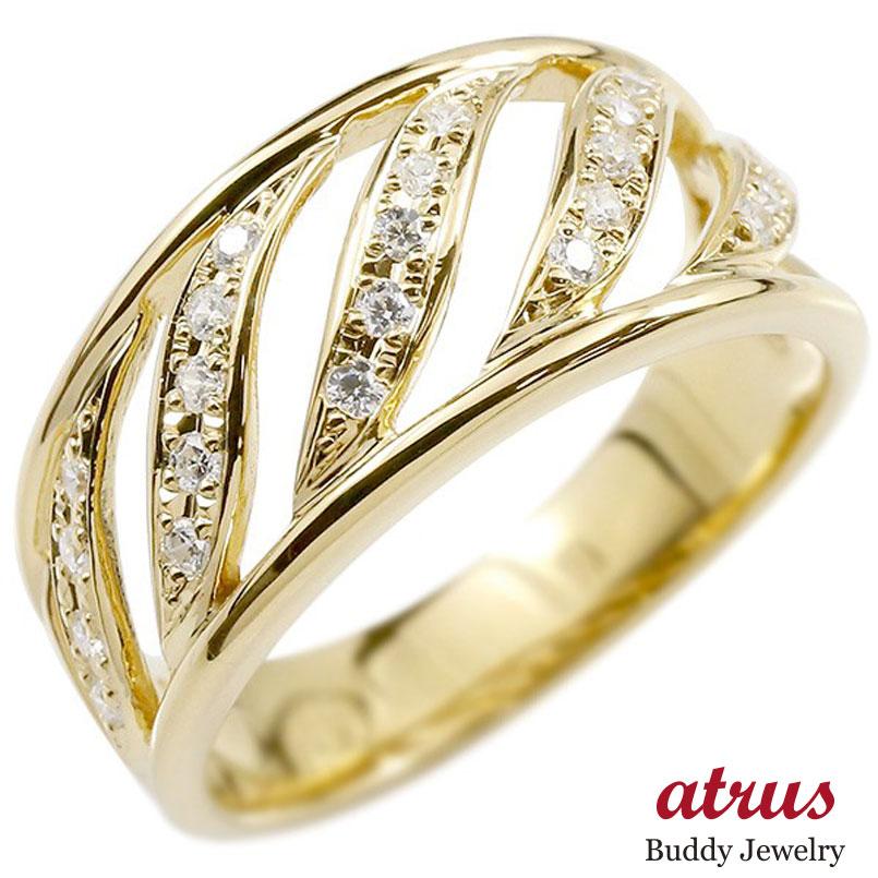 しっかりした幅広リング メンズ リング イエローゴールドk18 ダイヤモンド 幅広 指輪 リング ダイヤ 18金 ピンキーリング 男性用 送料無料