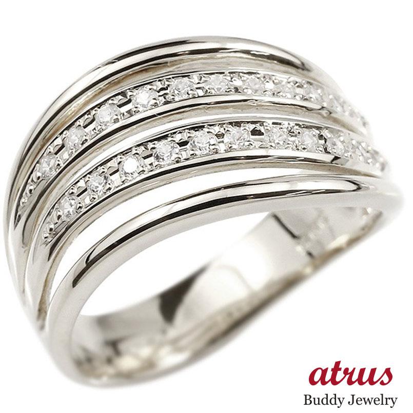 メンズ リング シルバー925 ダイヤモンド 幅広 指輪 リング ダイヤ sv925 ピンキーリング 男性用 送料無料